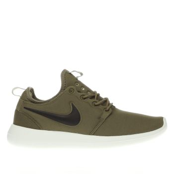 NIKE KHAKI ROSHE TWO TRAINERS