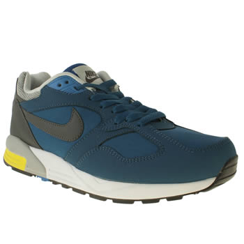 mens nike blue air base ii trainers