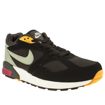 mens nike black & grey air base ii trainers