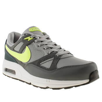 mens nike grey & lime air max span trainers
