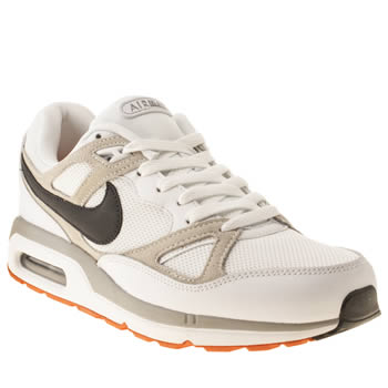 mens nike white & black air max span trainers