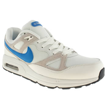 mens nike white & blue air max span trainers
