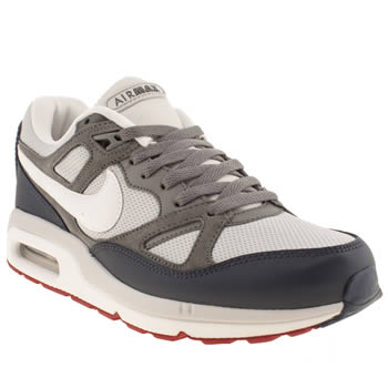 mens nike grey & navy air max span trainers