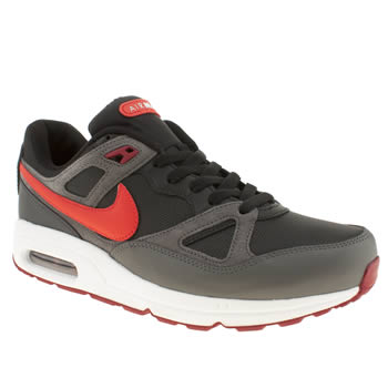 mens nike grey & black air max span trainers