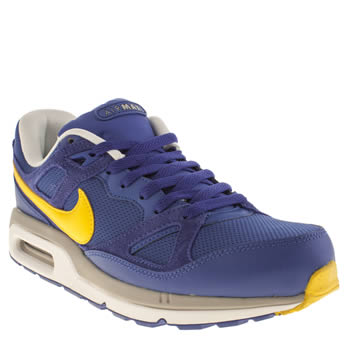 mens nike blue & yellow air max span trainers