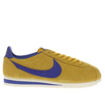 Nike Yellow Cortez Mens Trainers