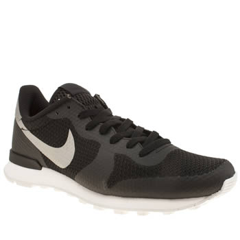 Mens Nike Black & Grey Internationalist Ns Trainers