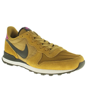 Mens Nike Yellow Internationalist Trainers