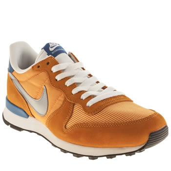 mens nike orange internationalist trainers