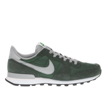 Nike Green Internationalist Mens Trainers
