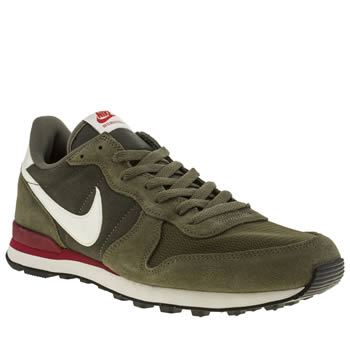 men 39 s khaki nike internationalist trainers schuh. Black Bedroom Furniture Sets. Home Design Ideas