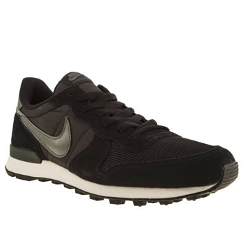 mens nike black & grey internationalist trainers