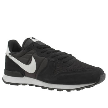 Mens Nike Black & White Internationalist Trainers