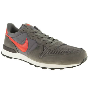 mens nike grey internationalist trainers
