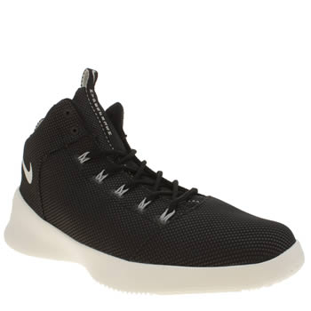 Mens Nike Black Hyperfr3sh Mid Trainers