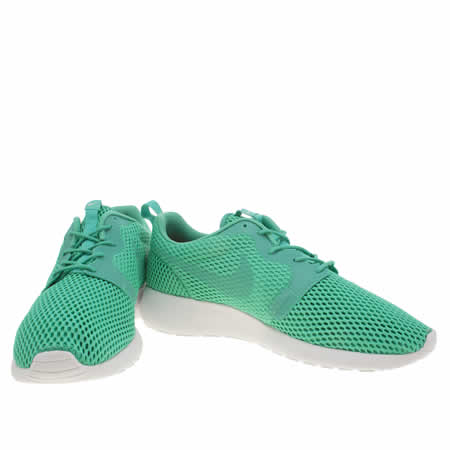 eeied Mens Turquoise Nike Roshe One Hyperfuse Br Trainers