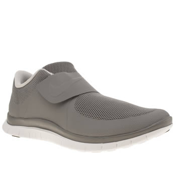 Mens Nike Light Grey Free Socfly Trainers