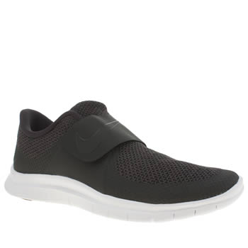 Mens Nike Black & White Free Socfly Trainers
