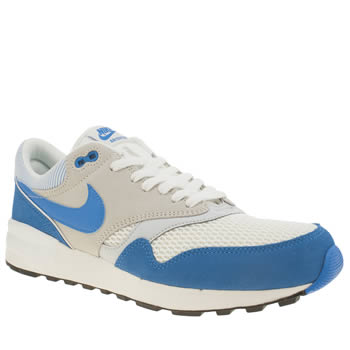 Mens Nike White & Blue Air Odyssey Trainers