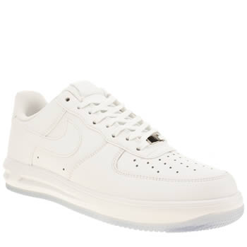 Mens Nike White & Pl Blue Lunar Force 1 Trainers