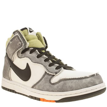 Mens Nike White & grey Dunk Cmft Trainers