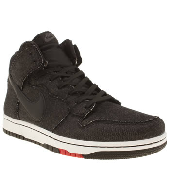 Mens Nike Black & Red Dunk Cmft Trainers