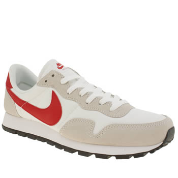 Mens Nike White & Red Air Pegasus 83 Trainers