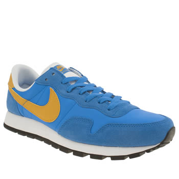 Nike Blue & Yellow Air Pegasus 83 Mens Trainers