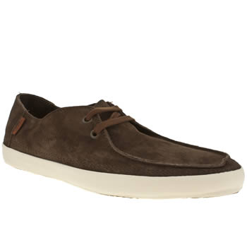 mens vans brown & white rata vulc trainers