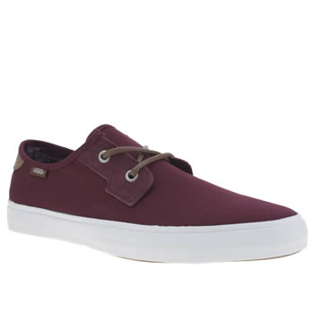 Mens Vans Burgundy Michoacan Trainers