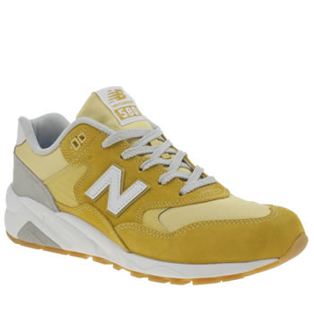 Mens New Balance Yellow 580 Trainers