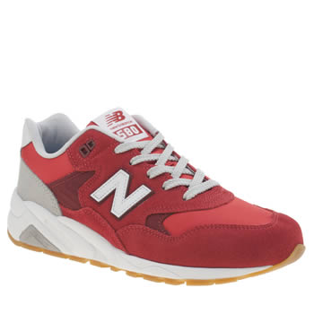 Mens New Balance Red 580 Trainers