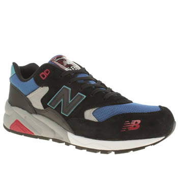 Mens New Balance Black and blue 580 Trainers