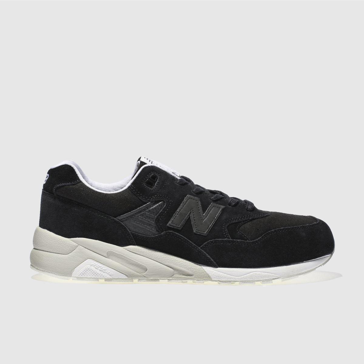 new balance black 580 trainers