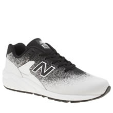 New Balance Black & White 580 Mens Trainers