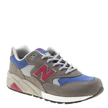 Mens New Balance Dark Grey Mrt580 Trainers