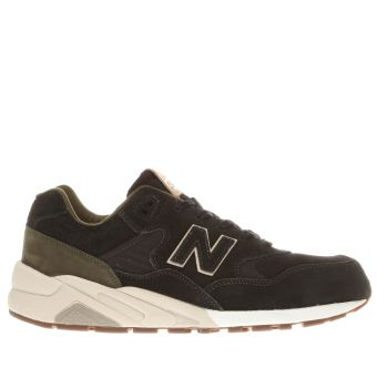 New Balance Black & Green 580 Trainers