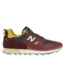 New Balance Burgundy Trailbuster Mens Trainers