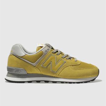 Mens New Balance Yellow 574 Trainers