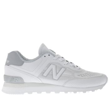 New Balance White 574 Mens Trainers