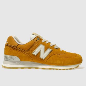 New Balance Orange 574 Mens Trainers