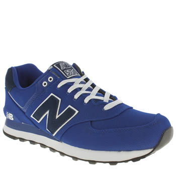 Mens New Balance Blue 574 Trainers