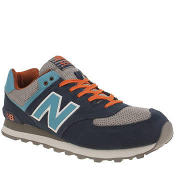 Mens New Balance Grey & Navy 574 Trainers