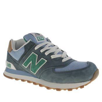 Mens New Balance Pale Blue 574 Trainers