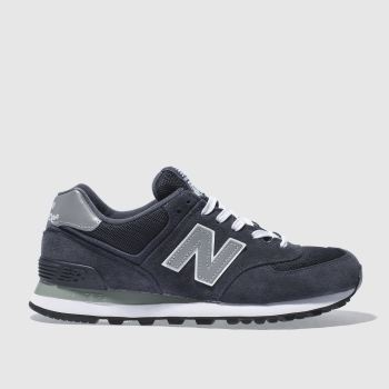 Mens New Balance Navy 574 Trainers