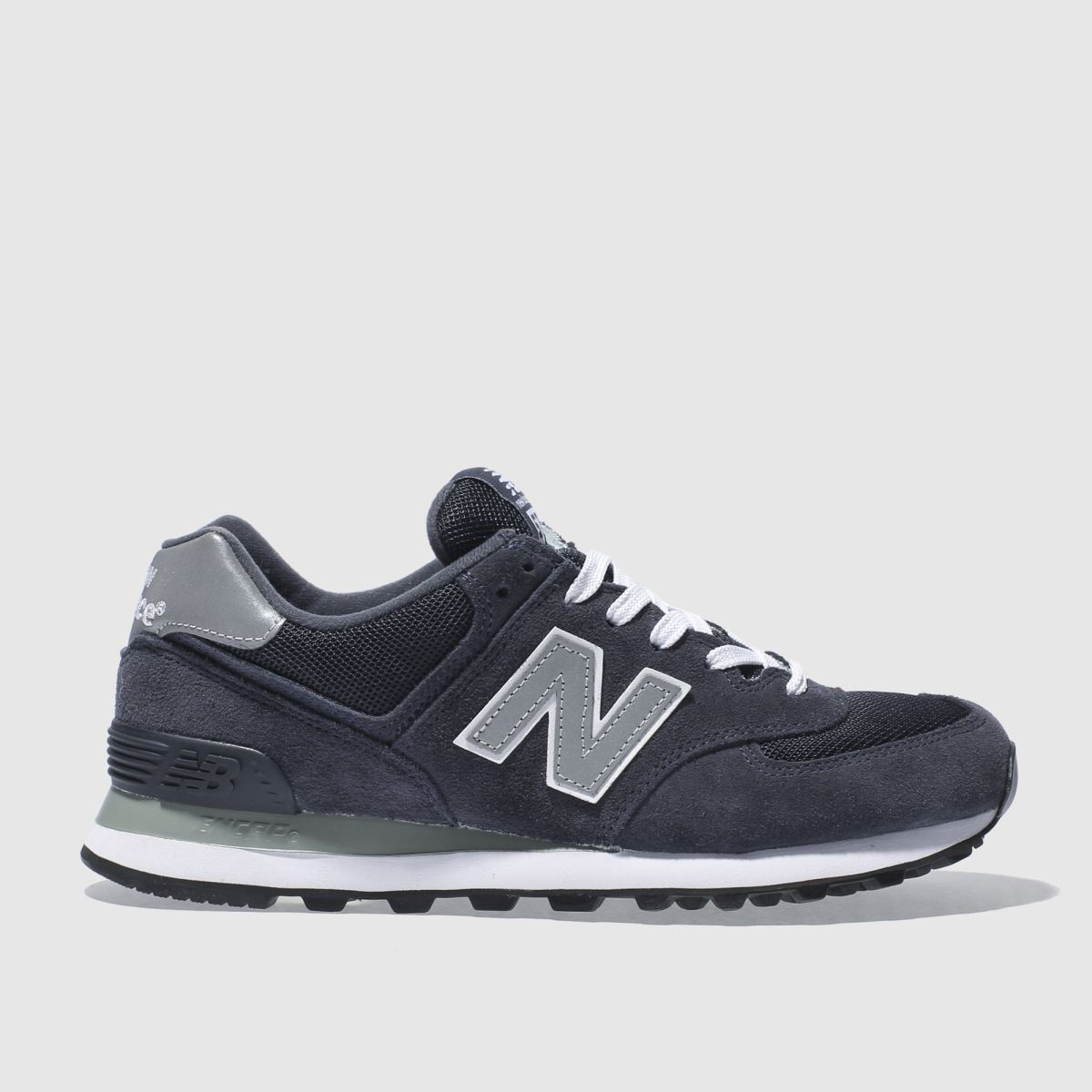 new balance 574 navy suede