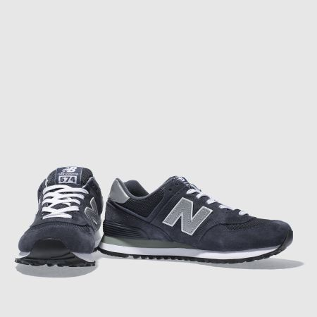 new balance 574 trainers in black