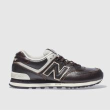 New Balance Dark Brown 574 Mens Trainers