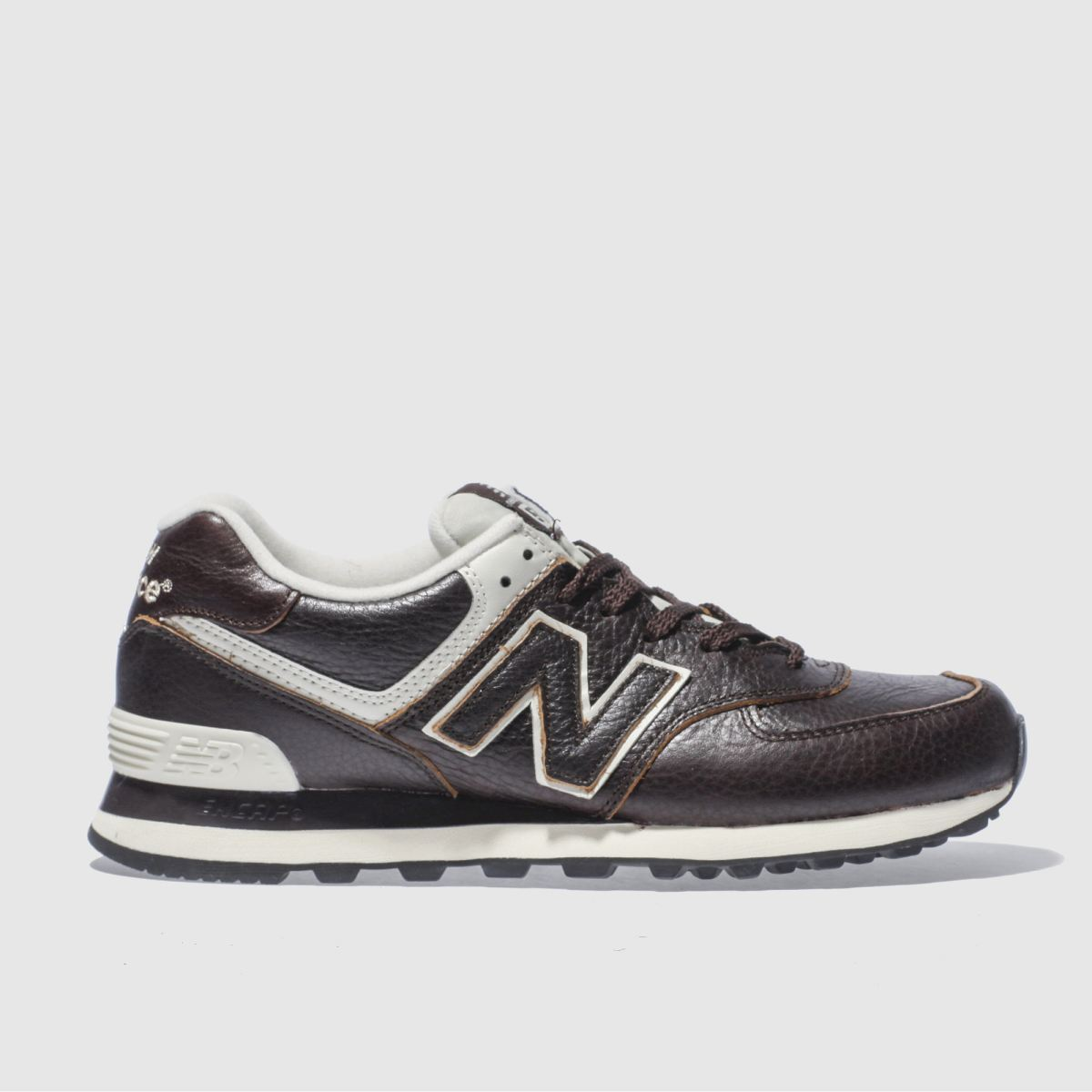 New Balance Dark Brown 574 Trainers