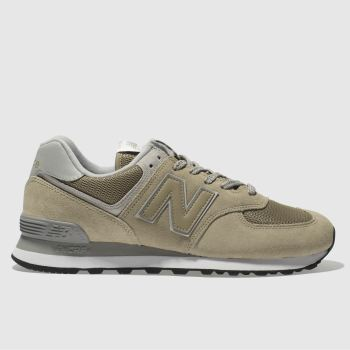 New Balance Beige 574 Mens Trainers